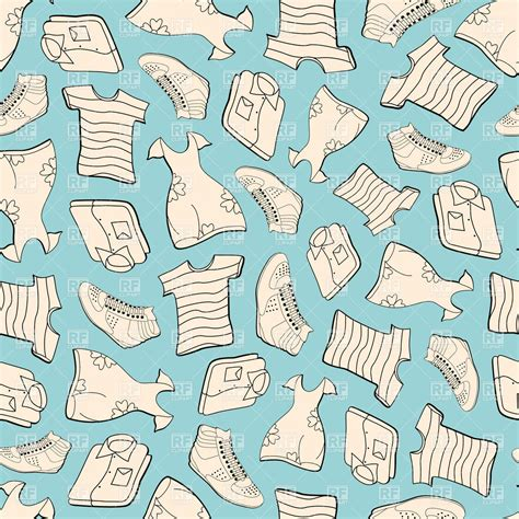 clothes pattern wallpaper seamless blue background with clothes shirts t shirts