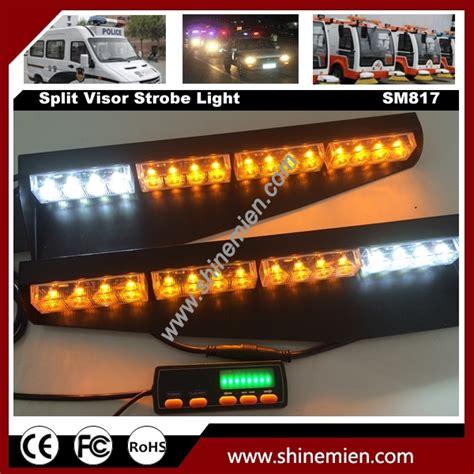 emergency light bar mounts emergency led warning strobe visor light split mount deck