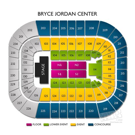 bryce center interactive seating chart bryce center tickets bryce center