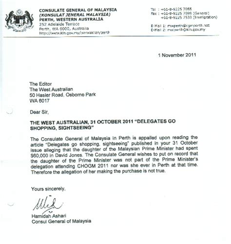 Formal Letter Format Malaysia 2014 Malaysians Must The Setting The Record For Malaysia