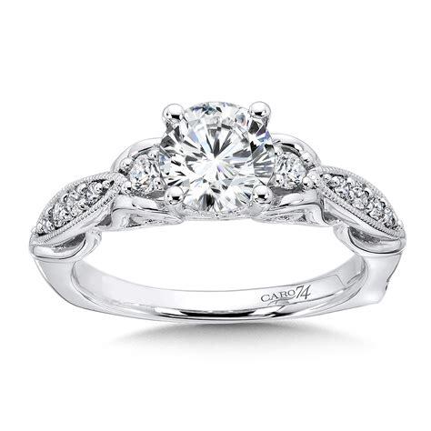 wedding ring taiwan caro74 3 engagement ring in 14k white gold with