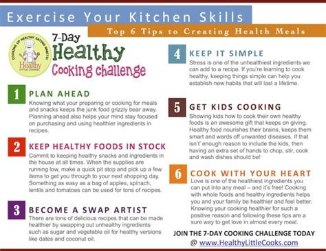 Healthy Kitchen Tips by 7 Day Healthy Cooking Challenge Healthy Cooks