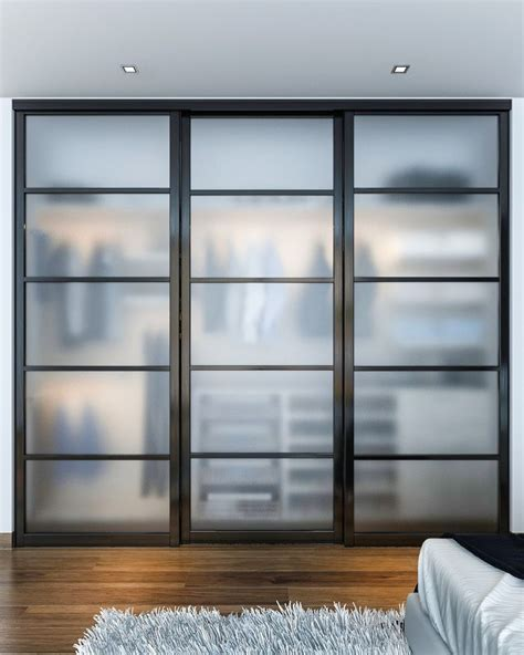 Beautiful Sliding Closet Doors - this reach in closet showcases beautiful closet doors that