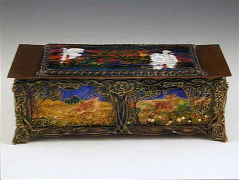 arts and crafts box for frederic shields arts crafts copper enamel box