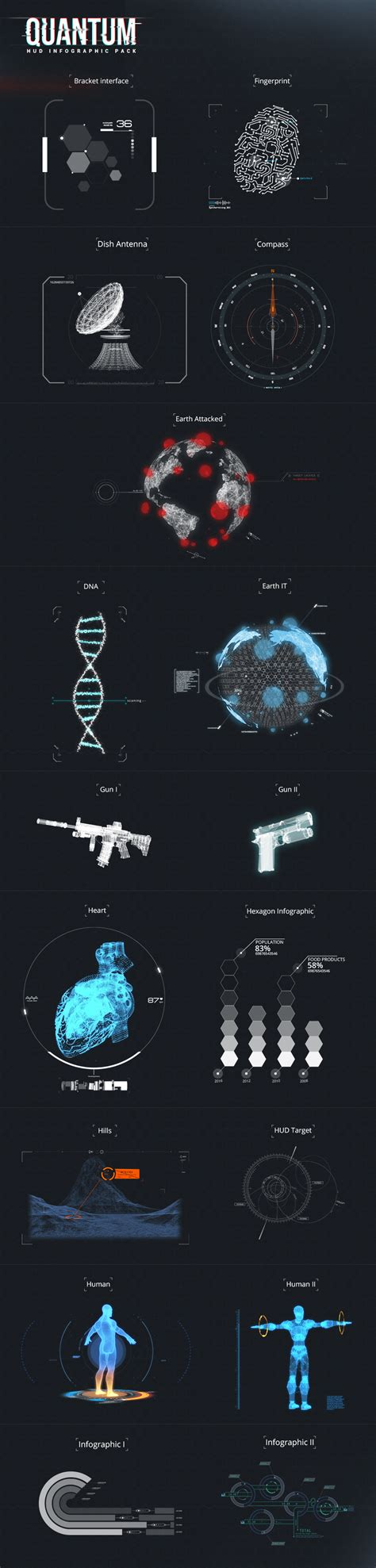 after effects template free phantom hud infographic quantum hud infographic wooenvato demo