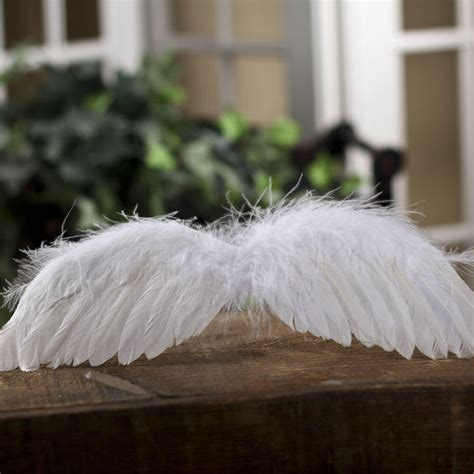 Real White Feather Angel Wings   Angel Wings   Doll