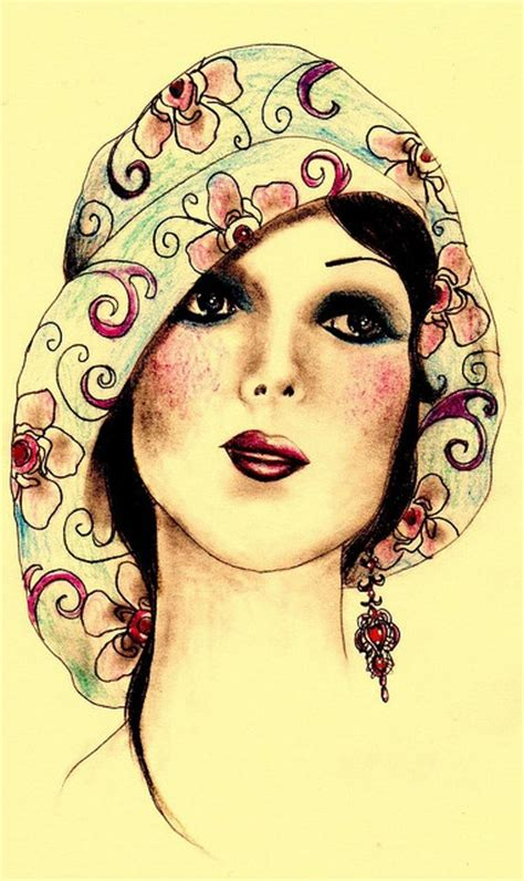 pixie faces in flapper hats 513 best images about hats illustrations on pinterest