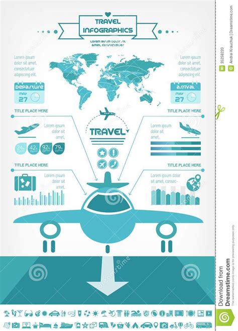 Travel Infographic Template Stock Vector Illustration Of Presentation Ribbon 35258220 Travel Infographic Template