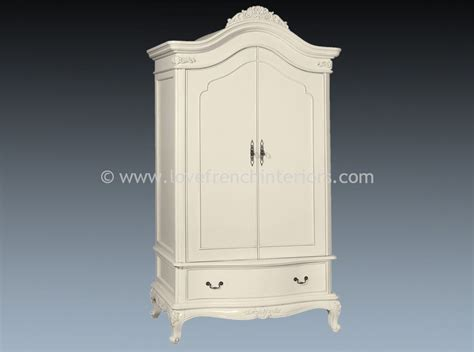 armoire white candice double armoire in antique white