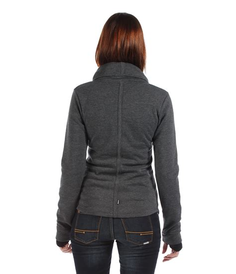 bench zip up bench metier zip up sweat jacket in gray lyst