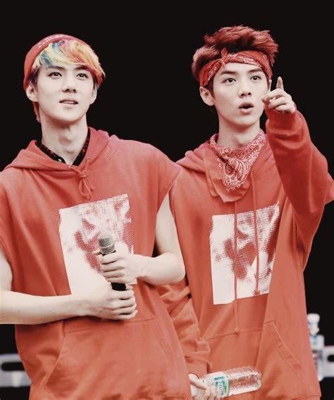 exo on pinterest sehun luhan and chanyeol sehun and luhan exo hunhan bromance theyre the cutest