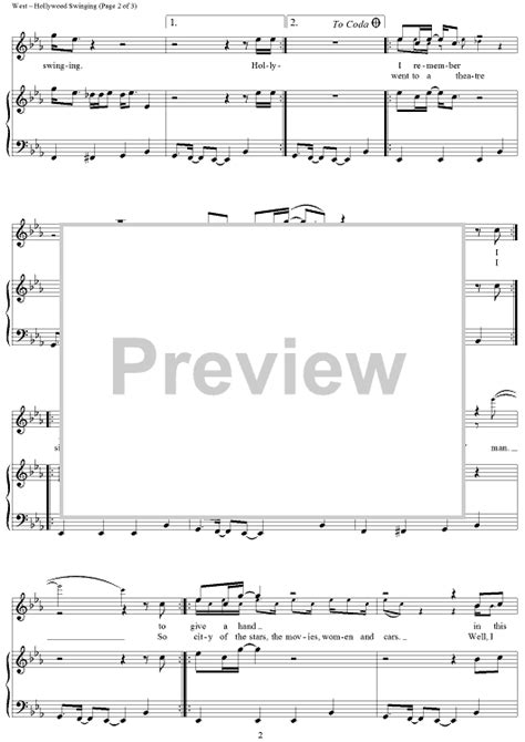 hollywood swinging song hollywood swinging sheet music music for piano and more