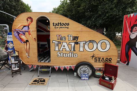 mobile tattoo shop vintage at southbank centre in pictures and style