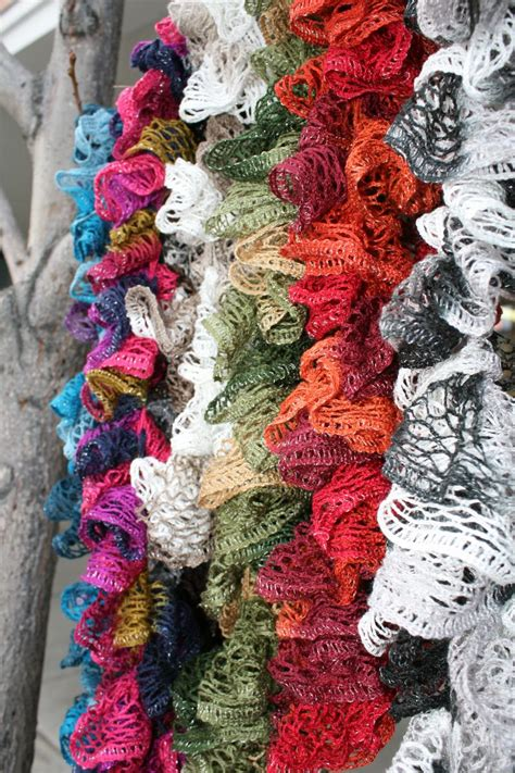 How To Make Handmade Scarves - ruffle scarves