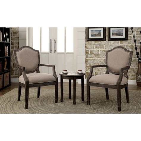 set of chairs for living room furniture of america caroline 3 living room