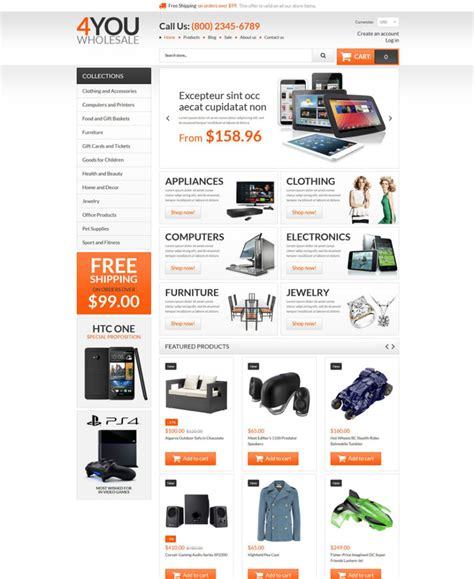 shopify wholesale theme 30 premium responsive shopify themes web design ledger