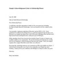 Scholarship Thank You Letter Nursing Donor Thank You Letter Sle Sle Acknowledgementthank You Letter To Scholarship Donor