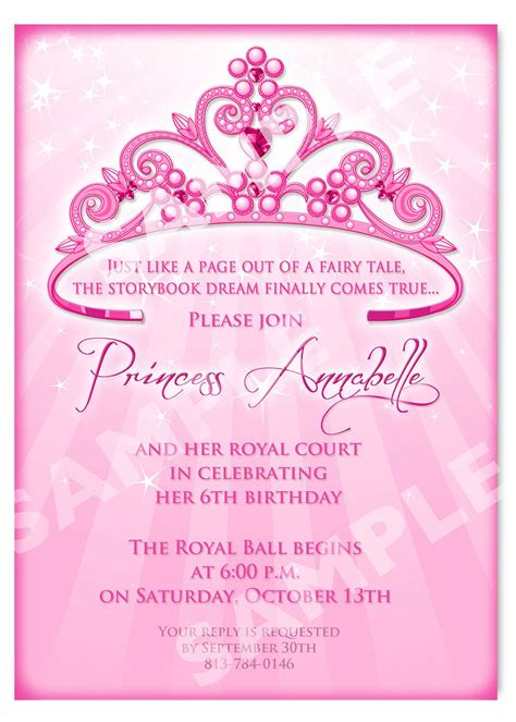 princess birthday card template free printable princess birthday invitation templates