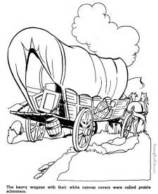 Wagon Coloring Pages Covered Page Az sketch template