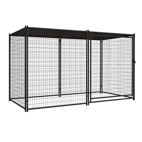 kennels lowes shop blue hawk 10 ft x 5 ft x 6 ft outdoor kennel preassembled kit at lowes