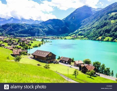 lade thun colorful view of thunersee lake thun in a beautiful