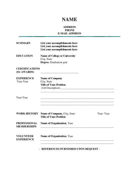 free resume templates outline sle presentation within 85 wonderful