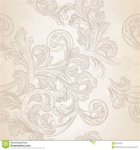 flowers seamless pattern element vector background seamless vector wallpaper pattern with swirl floral