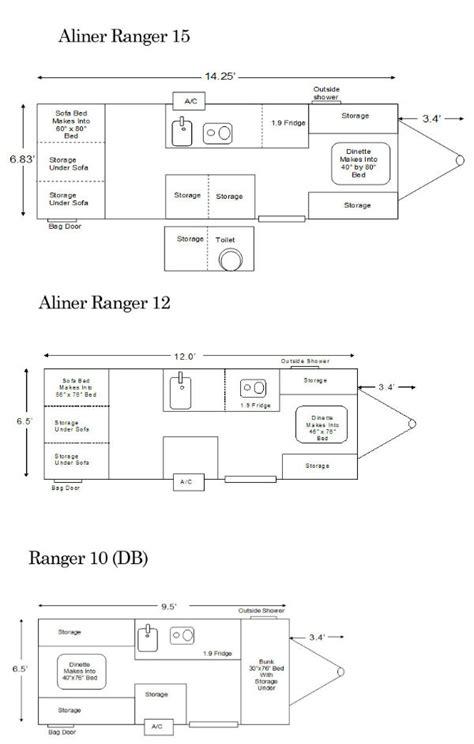 aliner floor plans ranger floor plans pop up cers