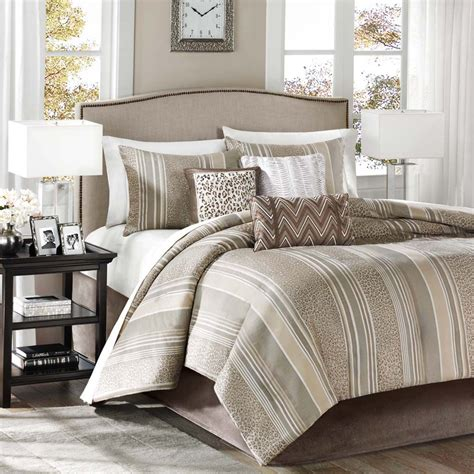 taupe bedding madison classics rollins taupe 7 piece comforter set
