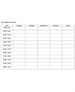 Template For Students by 13 Timetable Templates Free Sle Exle Format