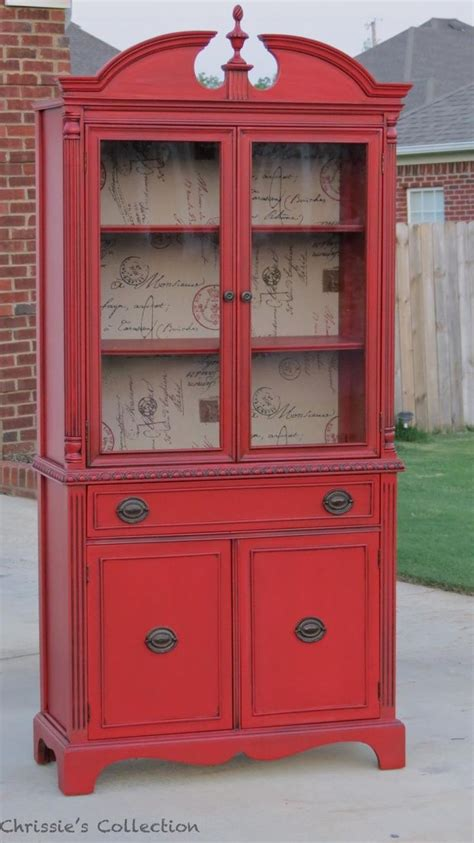 red china cabinet around the house pinterest