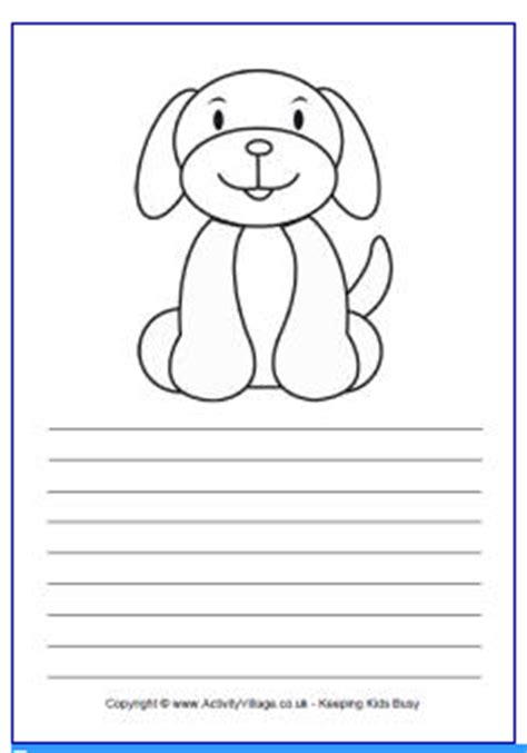 printable writing paper with dogs muck monsters story writing paper dog