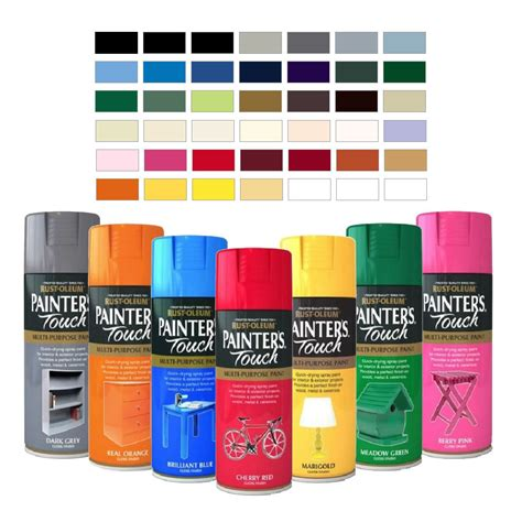 rust oleum painter s touch multi purpose aerosol spray paint satin gloss matt ebay
