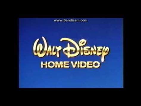 1986 walt disney home video logo aka youtube walt disney home video 1991 1992 blue background youtube