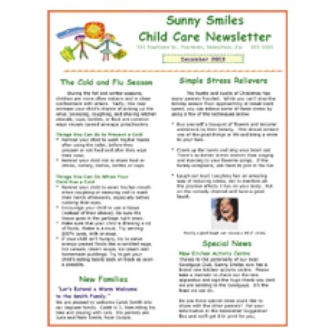 daycare newsletter templates daycare newsletter search results calendar 2015