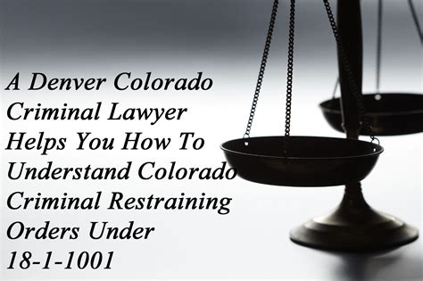 Is A Restraining Order A Criminal Record Colorado Criminal Lawyer Helps You To Understand Colorado Criminal Restraining Orders