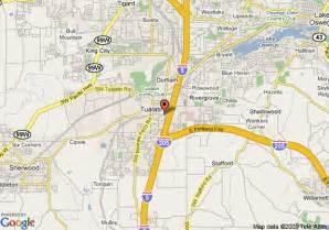 tualatin oregon map map of comfort inn tualatin tualatin