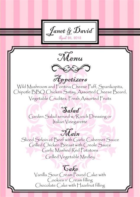 Menu Cards For Buffet Weddingbee Buffet Menu Cards
