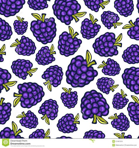 berry design blackberry seamless pattern vector doodle berry design for wallpaper web page background
