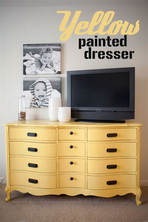 Yellow Bedroom Dresser Best 25 Yellow Painted Dressers Ideas On
