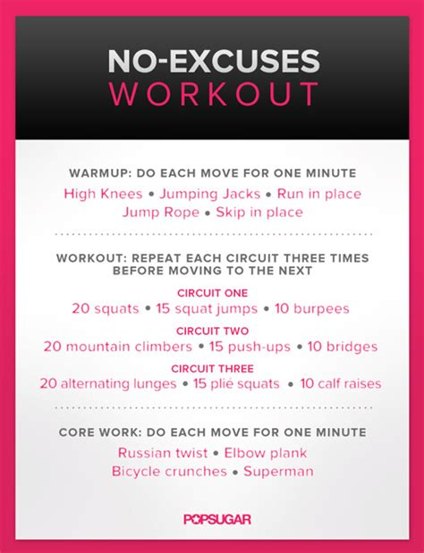 workout plan for women at home body weight workout for women poster popsugar fitness
