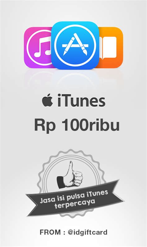 Itune Gift Card Indonesia itunes gift card 100 k itunes gift card indonesia