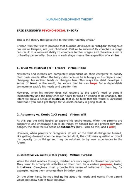 erik erikson research paper infancy through erickson s eight stages of development