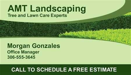 gardening business cards templates landscaping office manager business card signazon