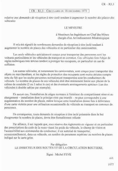 Exemple De Lettre Circulaire Www Trafic Amenage Forum Voir Le Sujet Tolerance Nombre De Passager Cg 2 Places Ctte