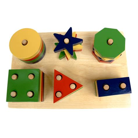 Mainan Anak Mainan Kayu 8 mainan kayu papan geometri 6 bentuk