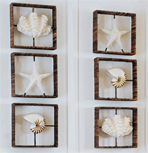 Shadow Box Wall Decor by Starfish Nautilus Clam Shadow Boxes