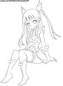 Wendy Fairy Tail Chibi Coloring Pages Sketch Page sketch template