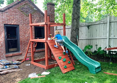 sweet small yard swing set solution home gardenhome