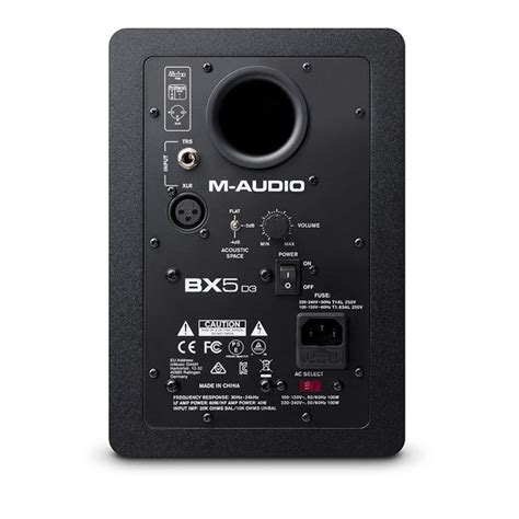 M Audio Bx5 by M Audio Bx5 D3 Studio Monitor At Gear4music